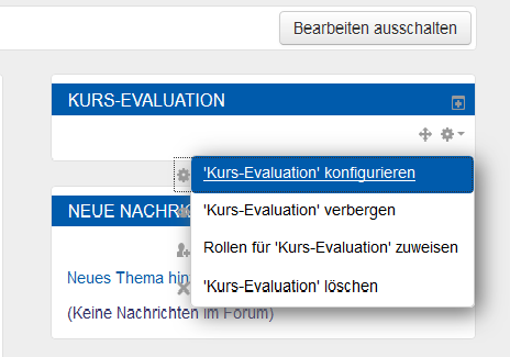 moodle Kursevaluation